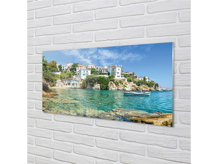 Obrazy na szkle Grecja Morze miasto natura Kolor