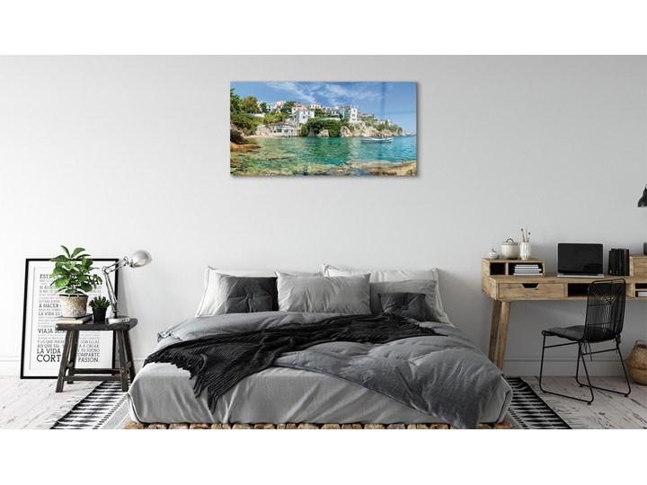 Obrazy na szkle Grecja Morze miasto natura Wymiary 70x140 cm Kolor