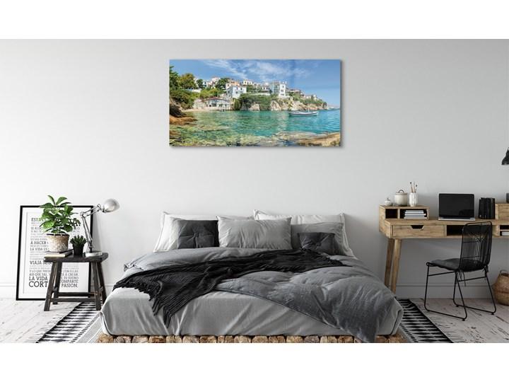 Obrazy na szkle Grecja Morze miasto natura Wzór Miasta Kolor