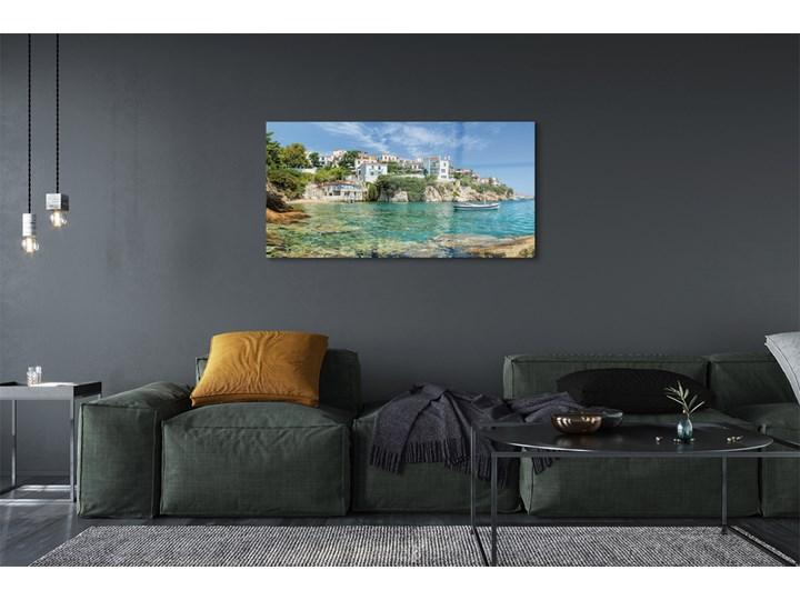 Obrazy na szkle Grecja Morze miasto natura Wymiary 50x125 cm Wymiary 70x140 cm