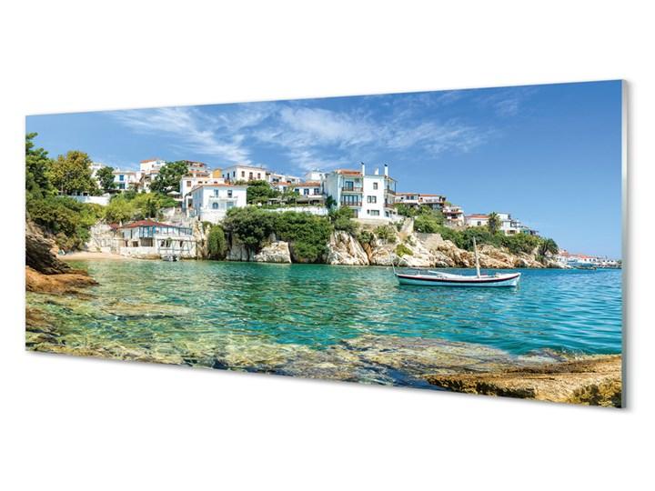 Obrazy na szkle Grecja Morze miasto natura Wzór Miasta Wymiary 50x100 cm