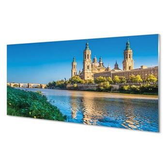 Obrazy na szkle Hiszpania Katedra rzeka