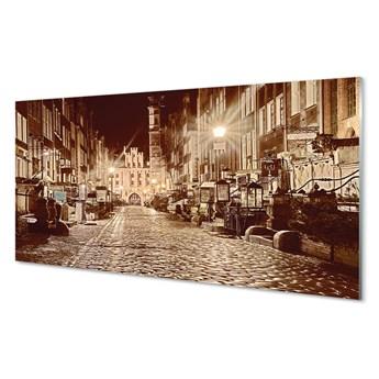Obraz na szkle Gdańsk Noc stare miasto