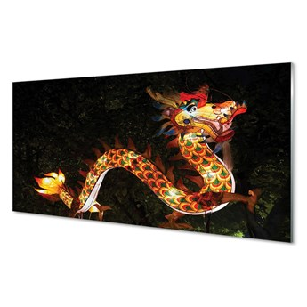 Obrazy na szkle Japoński smok świecący