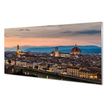 Obrazy na szkle Włochy Panorama góry katedra