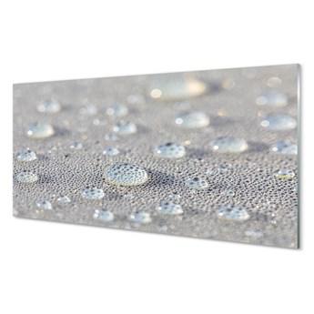 Szklany Panel Krople makro słońce