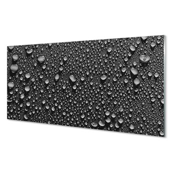 Szklany Panel Krople makro woda