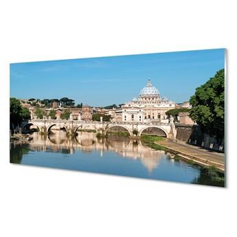 Panel Szklany Rzym Rzeka mosty