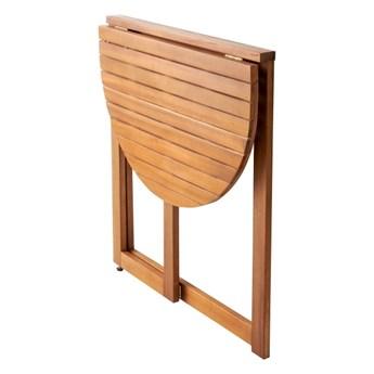Stół półokrągły GoodHome Virginia 70 cm