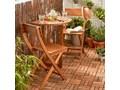Stół półokrągły GoodHome Virginia 70 cm Stoły rozkładane Stoliki balkonowe Drewno Kategoria Stoły ogrodowe