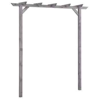 VidaXL Pergola ogrodowa, szara, 200x40x205 cm, impregnowana sosna