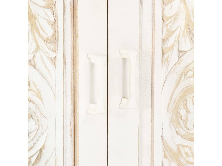 VidaXL Szafa, biała, 120x40x200 cm, lite drewno mango Szerokość 120 cm Wysokość 120 cm Głębokość 40 cm Rodzaj drzwi Zwijane
