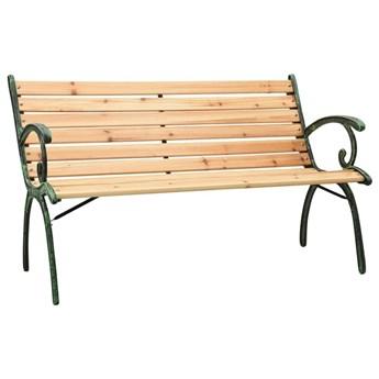 VidaXL Ławka ogrodowa, 123 cm, żeliwo i lite drewno jodłowe