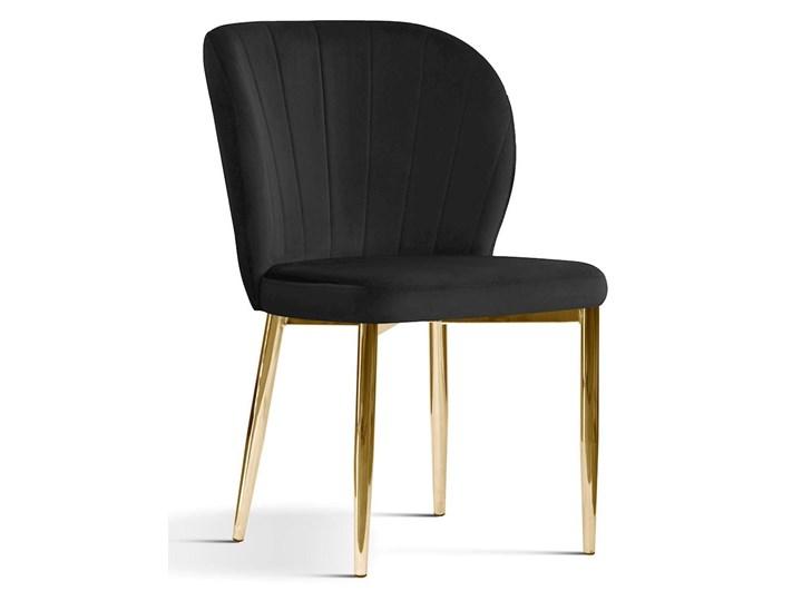 Krzesło tapicerowane Kukka velvet / złote nóżki Wysokość 88 cm Krzesło inspirowane Metal Głębokość 57 cm Szerokość 53 cm Tworzywo sztuczne Tkanina Styl Glamour