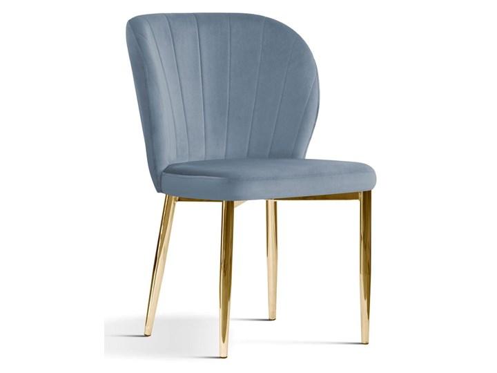 Krzesło tapicerowane Kukka velvet / złote nóżki Głębokość 57 cm Metal Styl Glamour Tkanina Wysokość 88 cm Szerokość 53 cm Tworzywo sztuczne Krzesło inspirowane Pomieszczenie Kuchnia