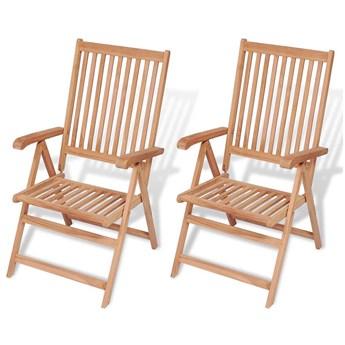 Zestaw drewnianych krzeseł ogrodowych - Onder