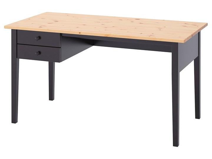 IKEA ARKELSTORP Biurko, czarny, 140x70 cm