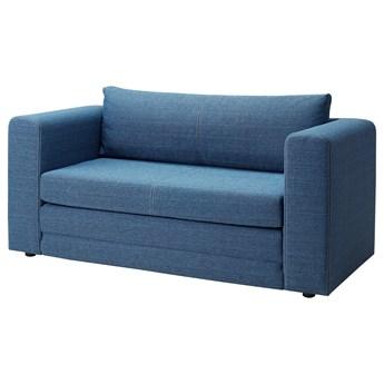 IKEA ASKEBY Sofa dwuosobowa rozkładana, niebieski, Szerokość: 149 cm