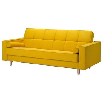 IKEA ASKESTA Rozkładana sofa 3-osobowa, Skiftebo żółty, Szerokość: 216 cm