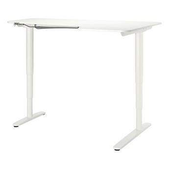 IKEA BEKANT Biurko narożne praw/siedz/stoj, Biały, 160x110 cm
