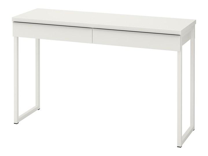 IKEA BESTÅ BURS Biurko, połysk biały, 120x40 cm