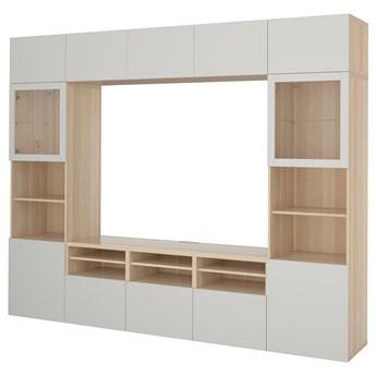 IKEA - BESTA Kombinacja na TV/szklane drzwi