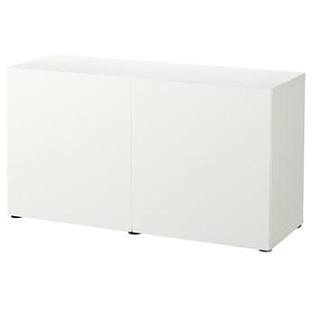 IKEA BESTÅ Kombinacja z drzwiami, Biały/Lappviken biały, 120x42x65 cm
