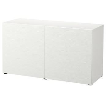 IKEA BESTÅ Kombinacja z drzwiami, Biały/Laxviken biały, 120x42x65 cm