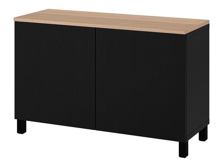 IKEA BESTÅ Kombinacja z drzwiami, Czarnybrąz/Lappviken/Stubbarp czarnybrąz, 120x42x76 cm