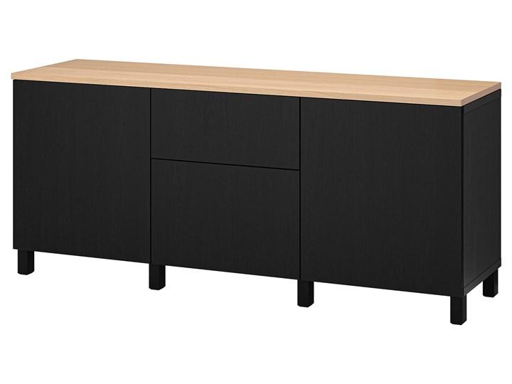IKEA BESTÅ Kombinacja z szufladami, Czarnybrąz/Lappviken/Stubbarp czarnybrąz, 180x42x76 cm