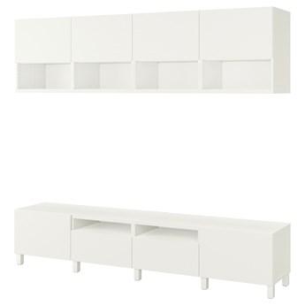 IKEA BESTÅ Szafka pod TV, Biały/Lappviken/Stubbarp biały, 240x42x230 cm