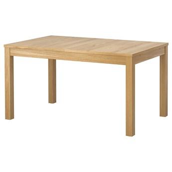 IKEA BJURSTA Stół rozkładany, Okl dęb, 140/180/220x84 cm