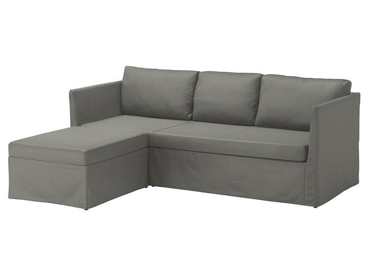 IKEA BRÅTHULT Narożnik z funkcją spania, Borred szarozielony, Szerokość: 212 cm