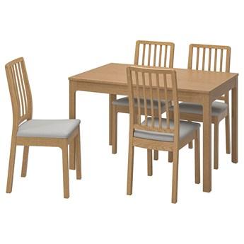 IKEA EKEDALEN / EKEDALEN Stół i 4 krzesła, dąb/Orrsta jasnoszary, 120/180 cm