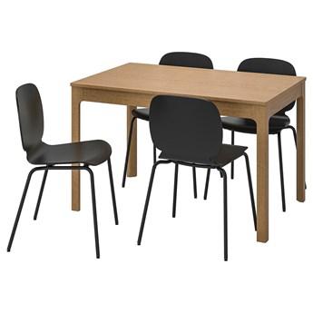 IKEA EKEDALEN / SVENBERTIL Stół i 4 krzesła, dąb/czarny, 120/180 cm