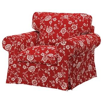 IKEA EKTORP Fotel, Virestad czerwony/biały, Szerokość: 104 cm