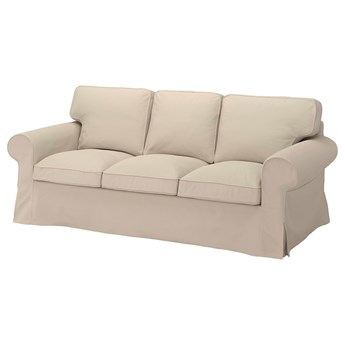 IKEA EKTORP Sofa 3-osobowa, Hallarp beżowy, Szerokość: 218 cm