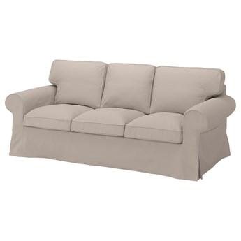 IKEA EKTORP Sofa 3-osobowa, Totebo jasnobeżowy, Szerokość: 218 cm