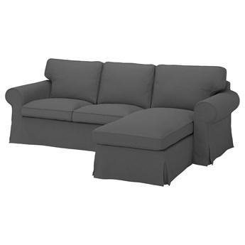 IKEA EKTORP Sofa 3-osobowa z szezlongiem, Hallarp szary, Szerokość: 252 cm