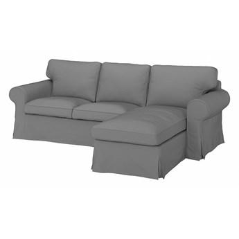 IKEA EKTORP Sofa 3-osobowa z szezlongiem, Remmarn jasnoszary, Szerokość: 252 cm