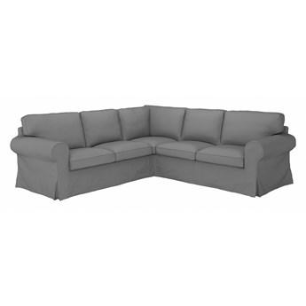 IKEA EKTORP Sofa narożna 4-osobowa, Remmarn jasnoszary, Minimalna szerokość: 243 cm
