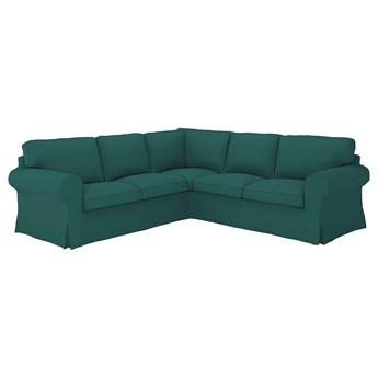 IKEA EKTORP Sofa narożna 4-osobowa, Totebo ciemnoturkusowy, Minimalna szerokość: 243 cm