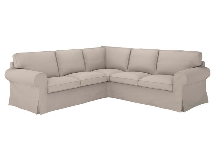 IKEA EKTORP Sofa narożna 4-osobowa, Totebo jasnobeżowy, Minimalna szerokość: 243 cm