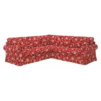 IKEA EKTORP Sofa narożna 4-osobowa, Virestad czerwony/biały, Minimalna szerokość: 243 cm