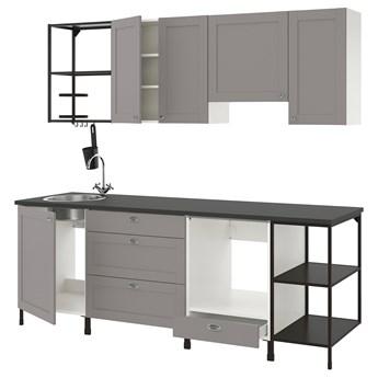 IKEA ENHET Kuchnia, antracyt/szary rama, 243x63.5x222 cm