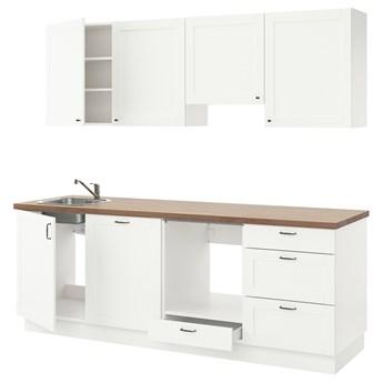 IKEA ENHET Kuchnia, biały rama, 243x63.5x222 cm