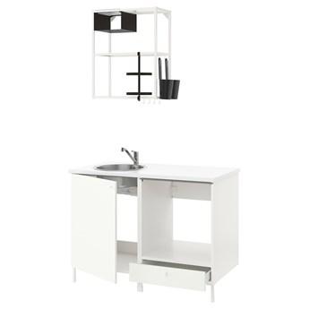 IKEA ENHET Kuchnia, biały, 123x63.5x222 cm