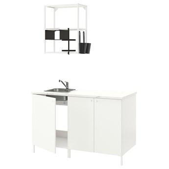 IKEA ENHET Kuchnia, biały, 143x63.5x222 cm