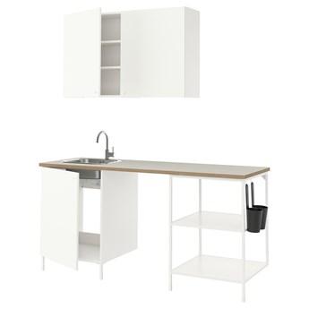 IKEA ENHET Kuchnia, biały, 183x63.5x222 cm