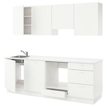IKEA ENHET Kuchnia, biały, 243x63.5x222 cm
